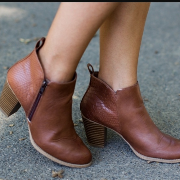 68f8705bd9cd jcpenney Shoes - Cognac ankle boots